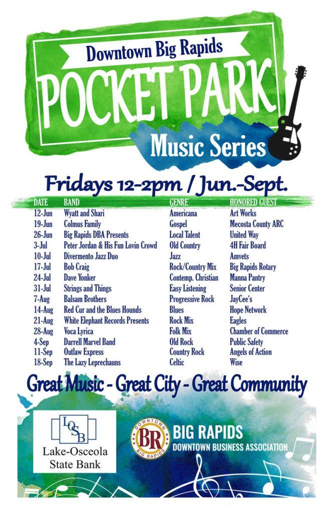 2020 Pocket Park Music Series